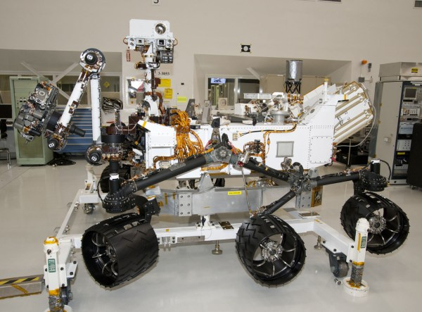 Space Images NASA Mars Rover Curiosity at JPL Side View