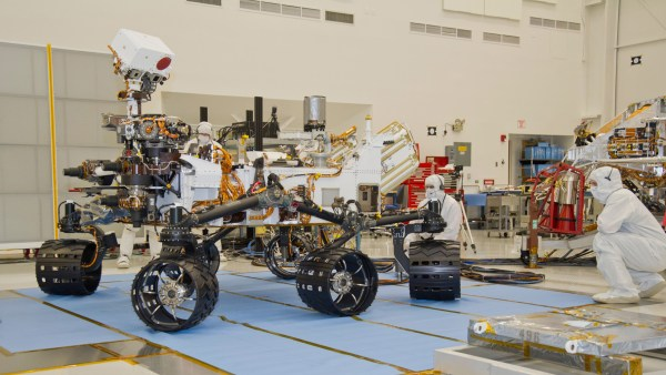Space Images Mars Rover Curiosity Turning in Place