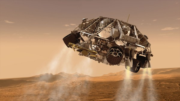 Space Images   Curiosity and Descent Stage, Artist's Concept
