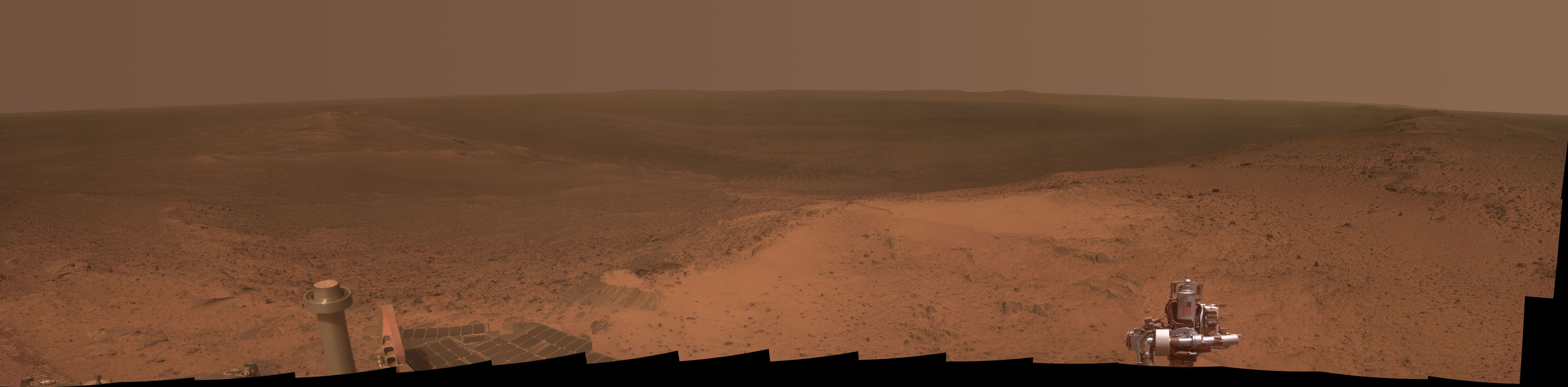 Mars rover reaches highest point in 7 years snaps this panorama