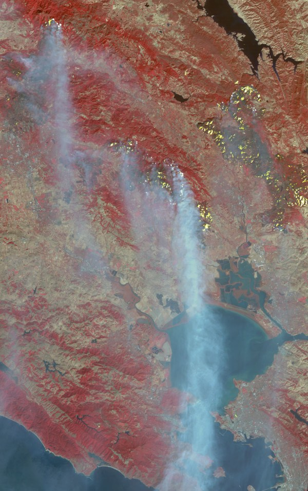 Space Images | Destructive Northern California Fires Seen ...