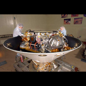 The Phoenix lander, housed in a 100,000-class clean room ...