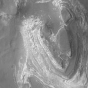 This image shows from NASA's 2001 Mars Odyssey spacecraft ...