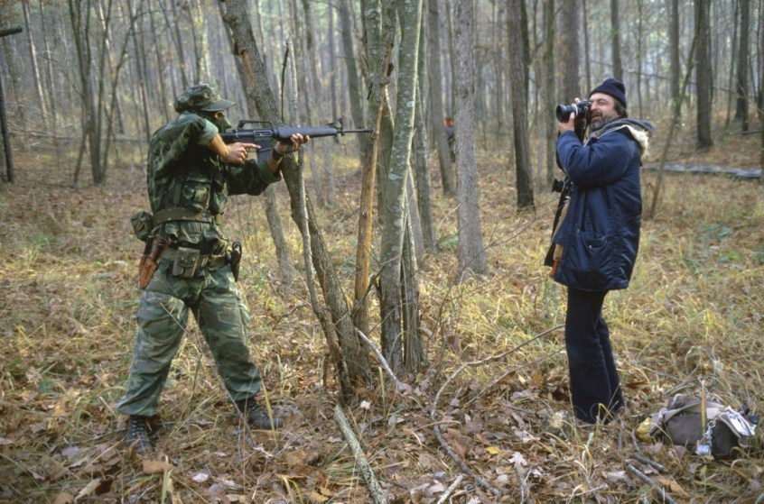 Region of Huntsville, AL - December 6th and 7th 1980. There's a camp of Special Forces of the KKK. We are a small group of journalists invited to witness their training Deep in a forest of Alabama, bordering Tennessee, training ground for the Ku Klux Klan's secret army.