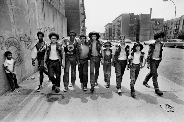 Bronx, New York City, NY. July 20th 1972. Members of the New York street gang Savage Skulls. The trademark of the, primarily Puerto Rican, gang was a sleeveless denim jacket with a skull and crossbones design on the back. Based around Fox Street, in the popular South Bronx neighborhood, the gang declared war on the drug dealers that operated in the area. Running battles were frequent with rival gangs Seven Immortals, and Savage Nomads.
