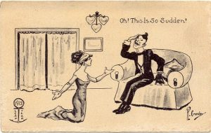 woman proposing - why do we have Leap Year?