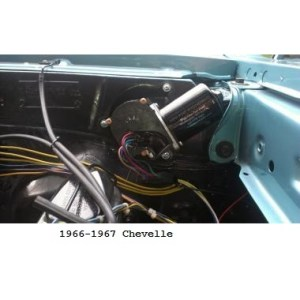 New Port Engineering 12 Volt Windshield Wiper Motor for Chevy Chevelles