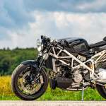 Moto Ducati 1098 café acer black widow