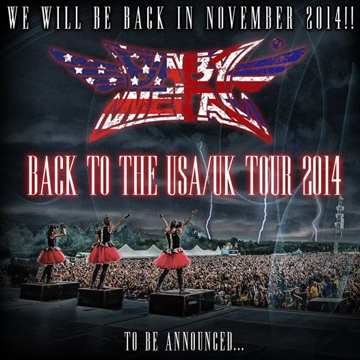 "BABYMETAL Announces Dates for ""BABYMETAL BACK TO THE USA / UK TOUR 2014"""