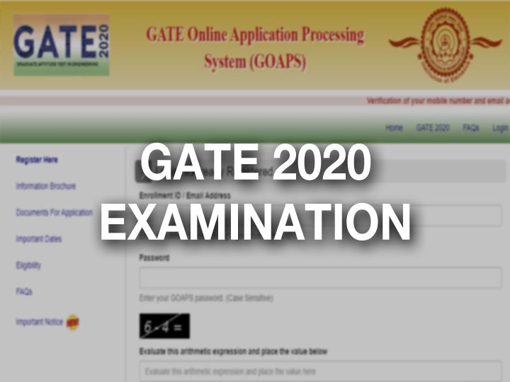 GATE Admit card 2020 Exam date