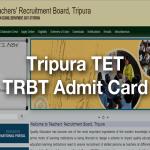 TRBT Admit Card