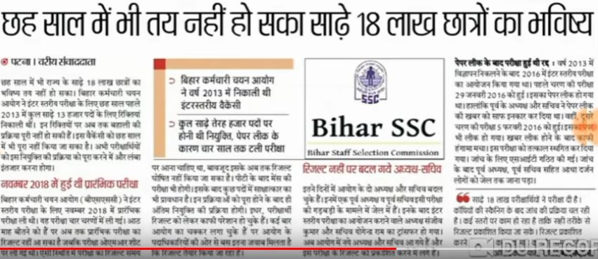 Bssc inter level recent news