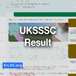UKSSSC Result 2019
