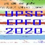 upsc epfo 2020