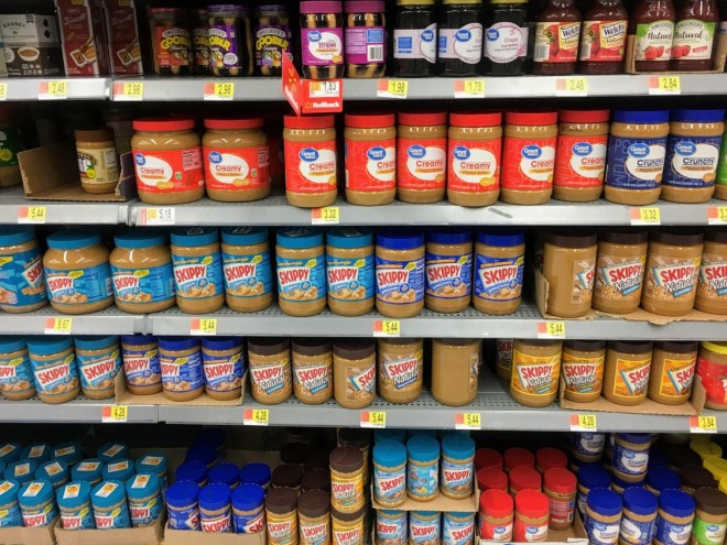 diferentes marcas y tipos de cremas de cacahuete