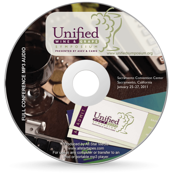 Unified Wine & Grape CD Label Design