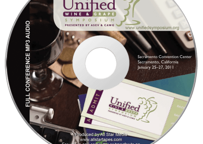 Unified Wine & Grape CD Label Design