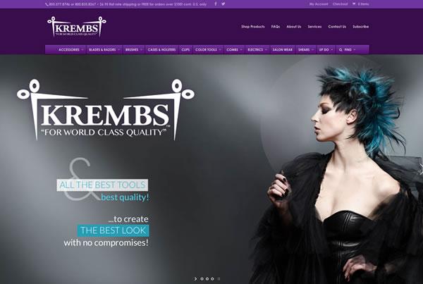 Responsive web design & new e-commerce shop for Krembs