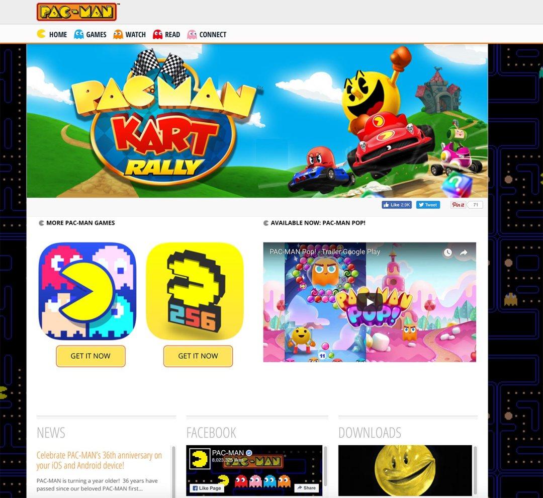 Pacman.com redesign