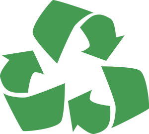 The recycling symbol - have an eco-friendly move by reducing plastic in your move!