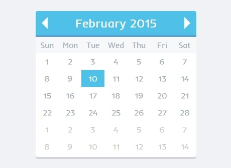 Create A Simple Flat Date Picker with jQuery MomentPicker ...