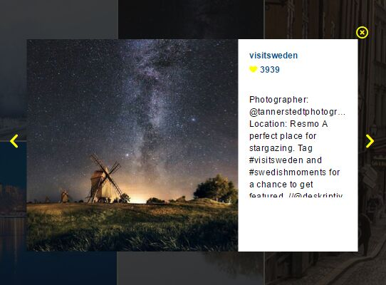 Instagram Style Photo Gallery With JQuery And Bootstrap Free JQuery Plugins