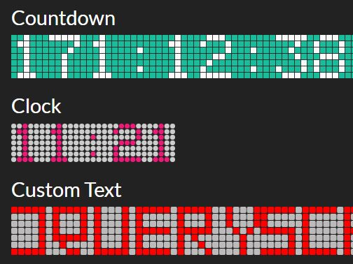 LED Display Style Countdown Clock Plugin - jQuery LED.js ...