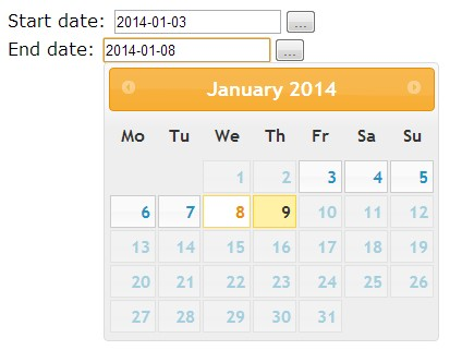 jQuery Date Range Selector Using jQuery UI Datepicker ...
