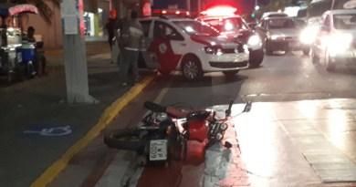 Acidente de moto em Várzea Paulista
