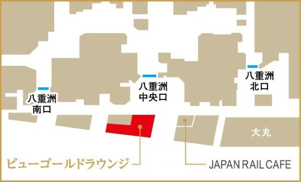 ビューカードゴールドラウンジのマップ