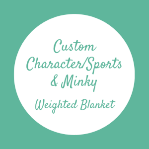 Custom Character or Sports Team Minky Weighted Blanket