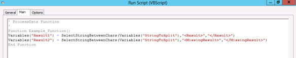 Select String Between Characters Using VBScript in Taskcentre - Usage