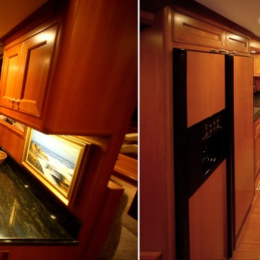 Yacht galley: Correct color, remove glare spots & remove keystone distortion.