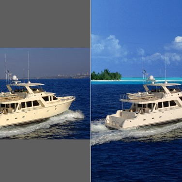 Yacht: New Environment, color correct the vessel.