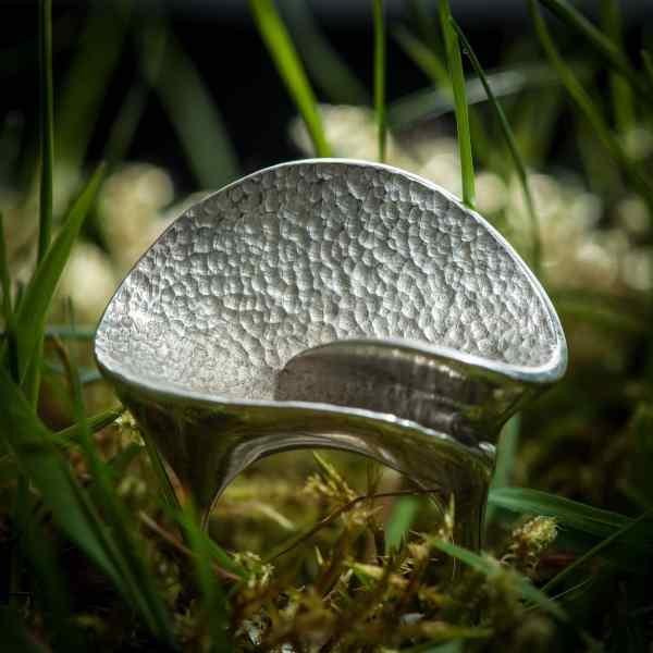 bague en argent 925 en forme de champignon