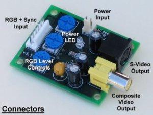 RGB to TV convertor  RGB to NTSC & PAL video encoder