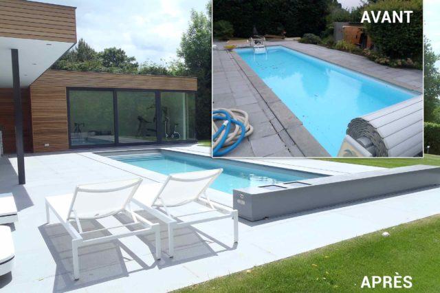 Renovation de piscines : avant-apres - JR Piscines