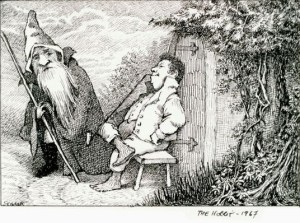 Il bozzetto dello Hobbit di Maurice Sendak