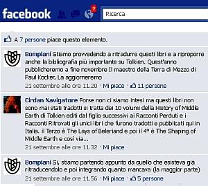Sito Facebook di Bompiani