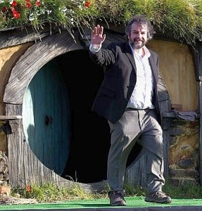 Peter Jackson sul set di Hobbiton (Matamata - Nuova Zelanda)