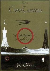 Immagine disegnata da Tolkien per Le due Torri