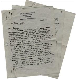 Lettera di Tolkien a Rayner Unwin del 12 maggio 1955