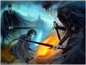 Frodo e i Nazgul - John Howe