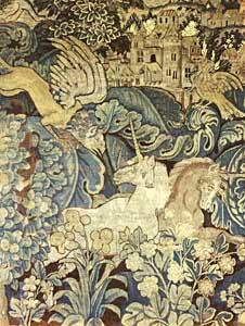 Le bestiaire fantastique d'Anglards de Salers - tapisserie Aubusson