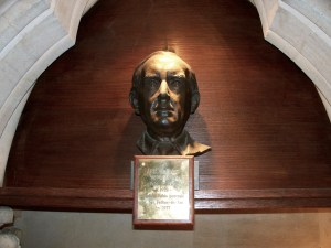 Tolkien's bust - Exeter college