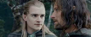 Legolas e Aragorn dal film di Jackson