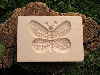 Motýl, dřevěná forma na perník či marcipán