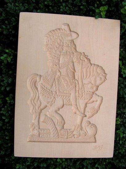 Šlechtic, dřevěná forma na perník či marcipán