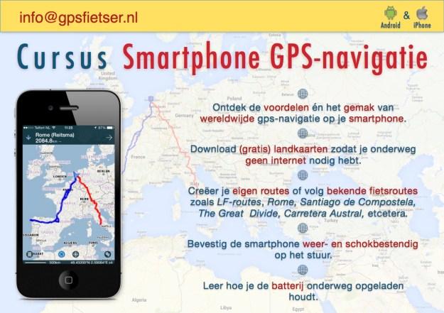 flyer - cursus Smartphone GPS-navigatie - achterkant