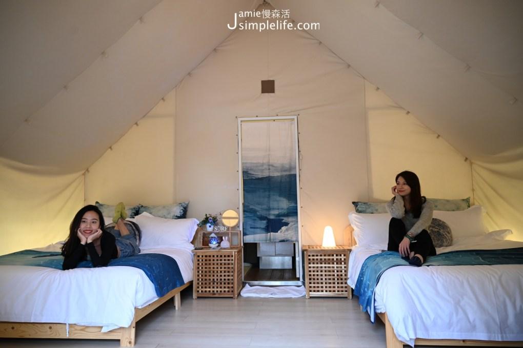台中向海那漾豪華露營區 30頂豪華露營帳篷 四人帳篷,兩張雙人床房型